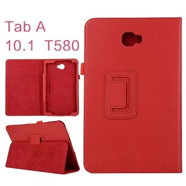 For Samsung Galaxy Tab A 10.1 T580 Case Cover Litchi Pattern Book Flip Folio PU Leather Case for Samsung Tab A 10.1 inch SM-T585