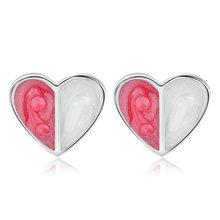 Простые красные серьги гвоздики в форме сердца для женщин свежие