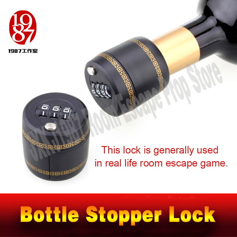 Takagism Game Prop Bottle Stopper Lock Open To Take Out The Clues In The Bottle Real Life Room Escape Props Jxkj1987