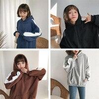 Korean Harajuku Women Hoodies Autumn Winter Fashion Side Stripe Patchwork Fleece Hoodie Sweatshirts Female Casual Pullovers