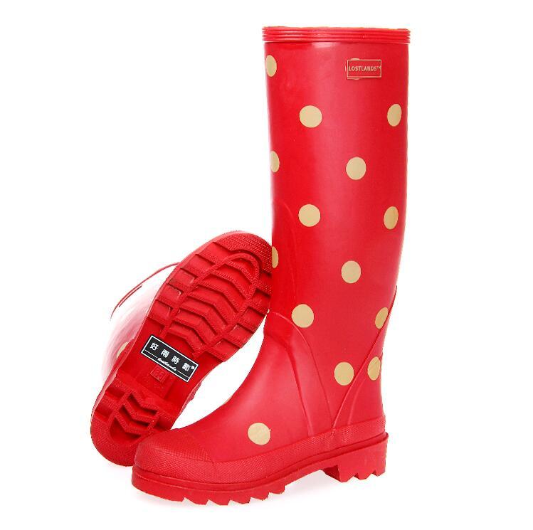 Женские зимние резиновые сапоги, резиновые непромокаемые сапоги с хлопковой подкладкой, нескользящая обувь для женщин
