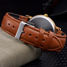 B-9114 Stylish Western Style Art Image Quartz Watch for Men Designer Rose Gold Case Leather Watch Strap Relogios Masculino