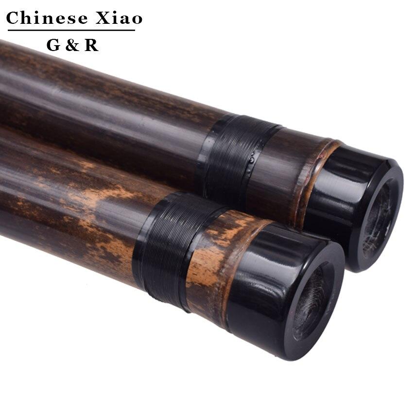 Китайская Вертикальная бамбуковая флейта Xiao 8 отверстий точно настроенный хроматический музыкальный инструмент G/F ключ Dong Xiao три секции Flauta