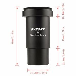 "Image 3 - SVBONY 5X Barlow Lens 1.25"" Metal Thread M42 * 0.75 Pitch for Astronomy Monocular Binoculars Telescope Eyepiece F9130"