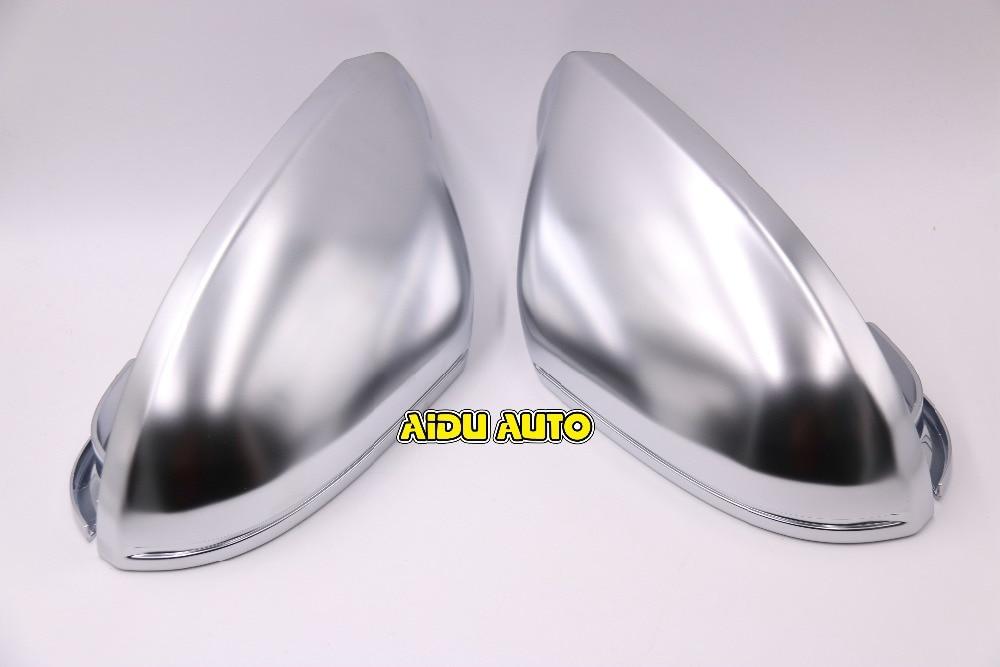 1 пара для Audi А6 С7 матовый серебристый корпус зеркала хром зеркало заднего вида чехол