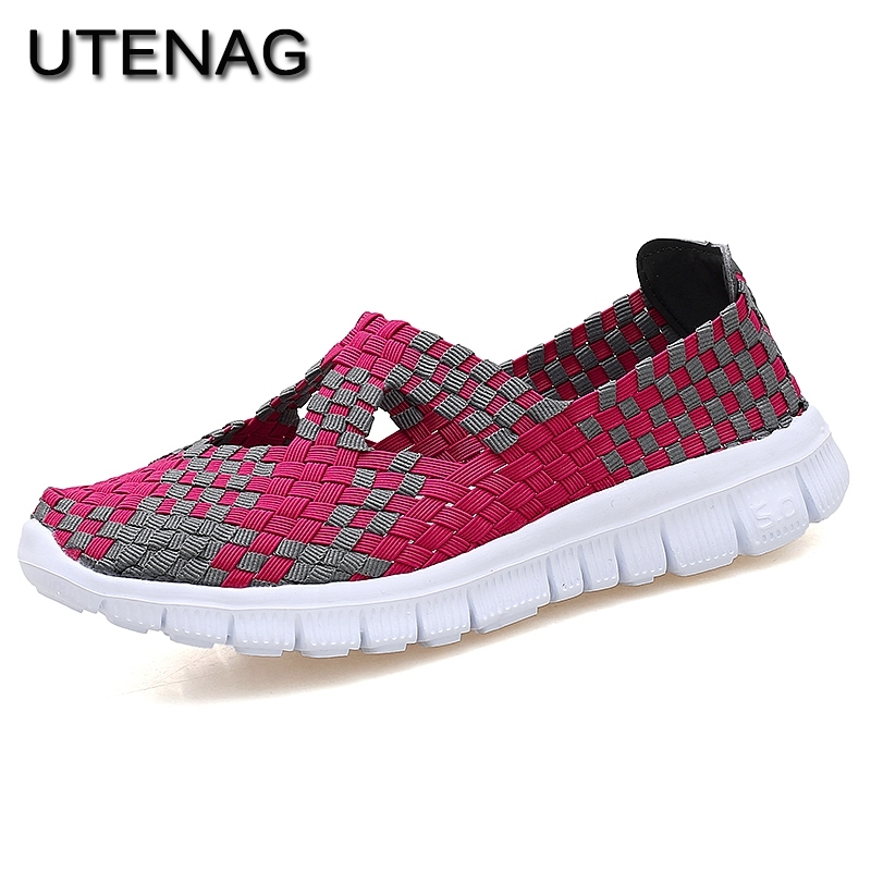 hot sale 2018 summer cool breathable Woven Casual shoes Comfortable Senior Fashion Women outdoor Flat Lightweight female sneaker 2017 fashion red black white men new fashion casual flat sneaker shoes leather breathable men lightweight comfortable ee 20
