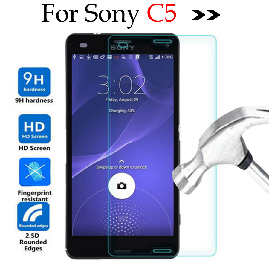 For Sony Xperia C5 Ultra E5553 Tempered Glass Screen Protector Cover Protective Film Case For Sony Xperia C5 Ultra Dual E5533