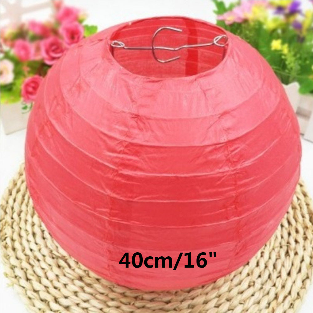 Saim 24 Packs 10 inch Hanging Paper Lanterns Round Foldable for ... | 1000x1000