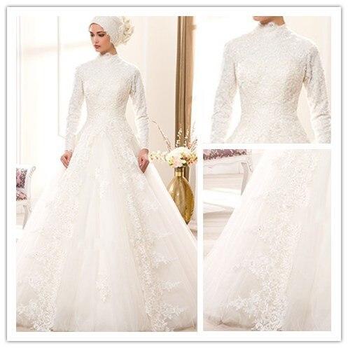 Nowoczesne Plus Size Arabia Saudyjska Muzułmaninem Suknia ślubna Z