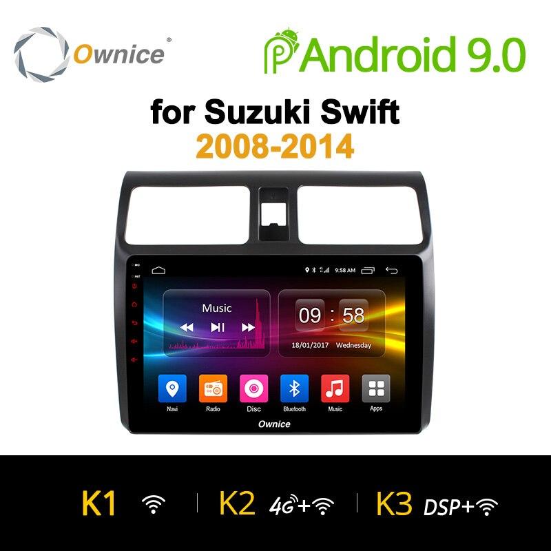 Ownice K1 K2 K3 Octa núcleo Android 9.0 gps do rádio de carro DVD player para suzuki swift 2008-2014 4G cartão Sim Carplay DAB + 32G ROM