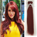 Virgin Brazilian Hair Clip In Extensions 100G Clip In Brazilian Hair Extensions 135 Burgundy Clip In Human Hair Extensions 10pcs