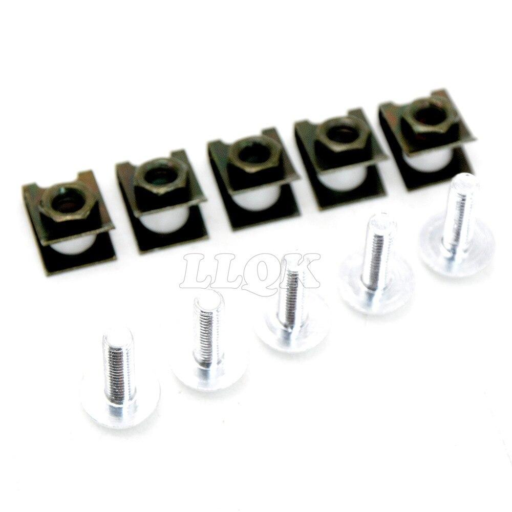 5 Pcs 6mm Cnc Motor Tubuh Bekerja Fairing Baut Sekrup Untuk Yamaha Skrup Xp500 Tmax 500 08 09 10 11 Honda Vtr1000 F Firestorm 98 05 Di Pengungkit