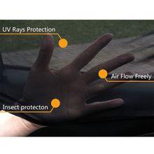 บล็อกใหม่ยุง Sun Shade Sox Universal Fit เด็กด้านหลังขนาดใหญ่รถด้านข้างหน้าต่าง Sun Shades Travel สำหรับรถยนต์, 1 คู่ qyh