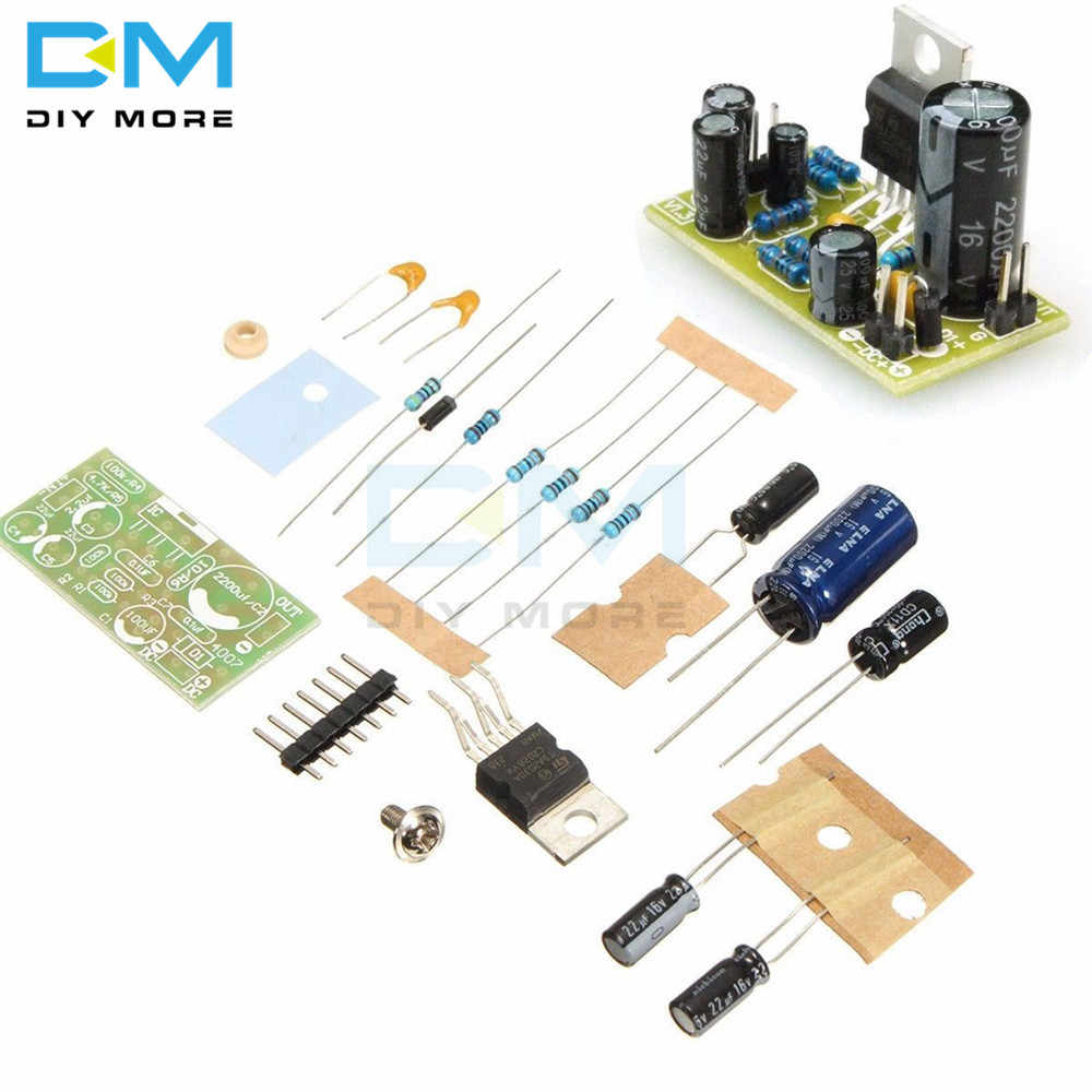 TDA2030A TDA2030 Elektronik Audio Power Amplifier Papan Modul Mono 18W DC 9 V-24 V Komputer Speaker Aktif DIY Kit