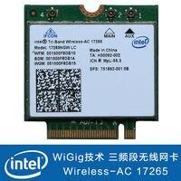 Intel Tri Band Wireless AC 17265NGW LC NGFF Wireless WIFI WLAN Card + BT Bluetoo 17265 AC