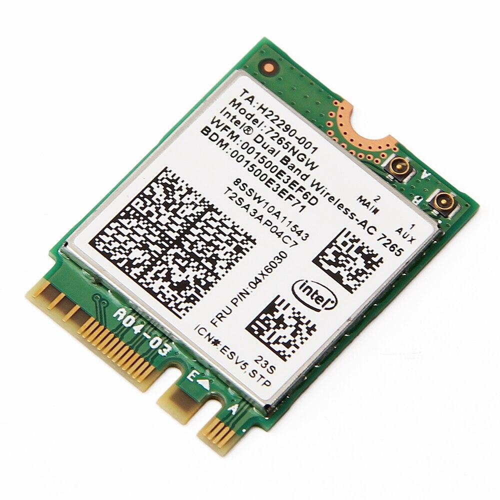 Clever Dual Band Wireless-ac Intel 7265ngw Ac M2 Ngff 867 Mbps 802.11ac/a/b/g/ N Wifi Bt 4,0 Karte Fru 04x6030 Für Lenovo L550 T550 G70-80 Den Menschen In Ihrem TäGlichen Leben Mehr Komfort Bringen Netzwerk Karten