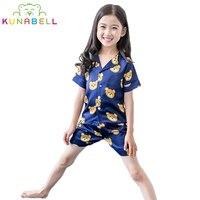 Summer Baby Girls Pajamas Sets Princess Pyjamas Kids Pajama Infantil Sleepwear Home Clothing Hawaii Style Brand