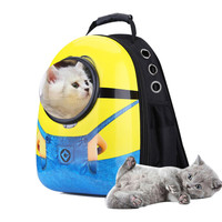 carrying a backpack for Pet Cat Dog Puppy Carrier Travel Bag Space Capsule Backpack Breathable for large cat animal 2019 AprT4