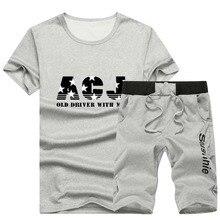 Marca de verano 4XL nuevos hombres de manga corta ropa deportiva traje de moda impresión Cool Casual Short Sets hombres Jogging Suit M-4XL AF1790