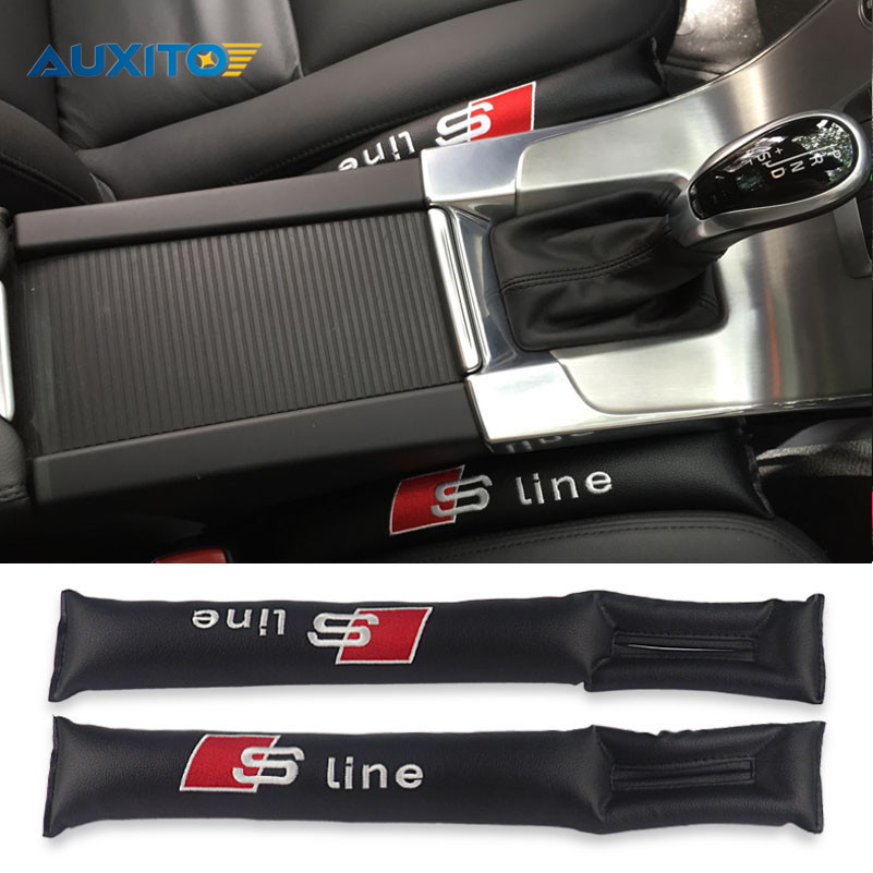 2x Car Styling Seat Gap Pad Fillers For Audi Sline Quattro A3 A4 A5 A6 A8 C5 B5 B6 B7 B8 C6 Q3 Q5 Q7 A3 A1 R8 TT R8 RS 80 100 car caps baseball cap for audi sline quattro a1 a4 b6 b8 a3 a5 a6 c5 q3 q7 q5 tt b5 b6 b7 q3 q5 q7 rs quattro s line c5 c6 hats