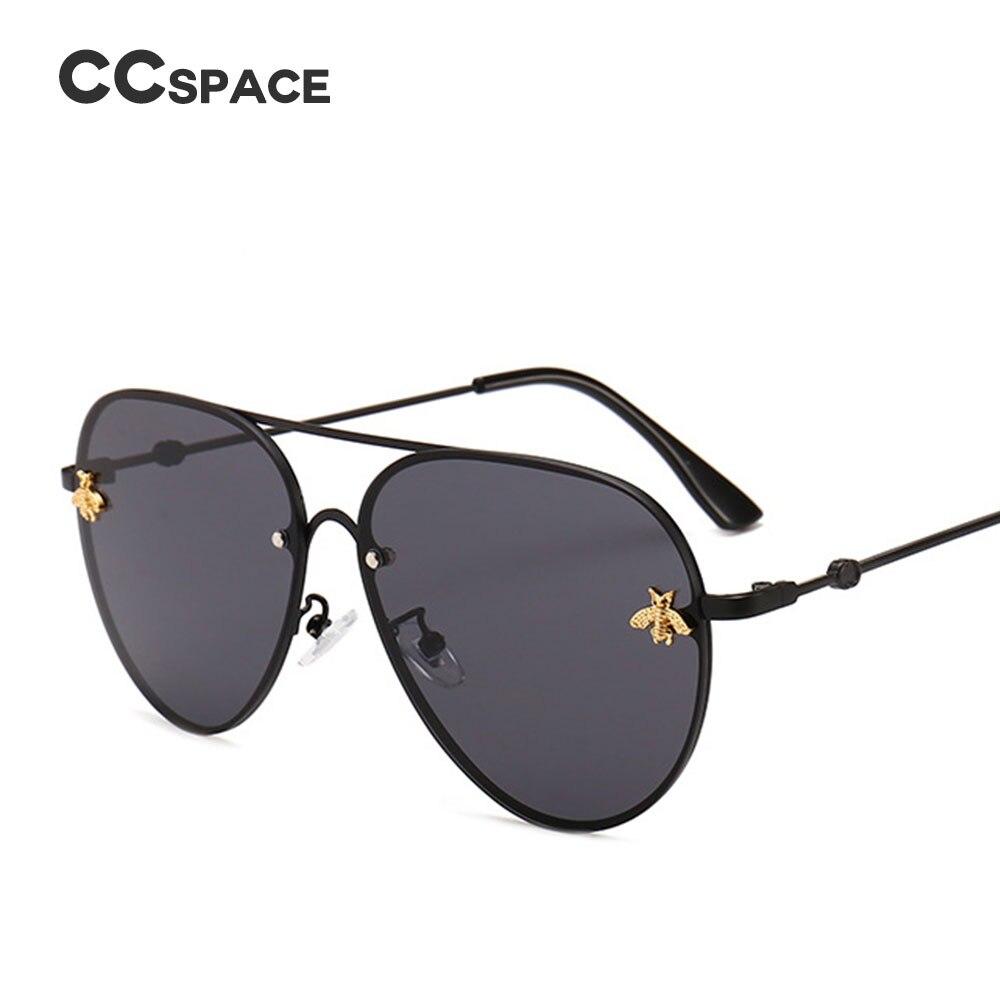 Us6 Male Female Frame Men 50Off 2018 Women Designer 49 Shades In luxury Metal Glasses Sunglasses Fashion Ccspace Vintage Bee Pilot Brand 46023 qSUpMLzVG