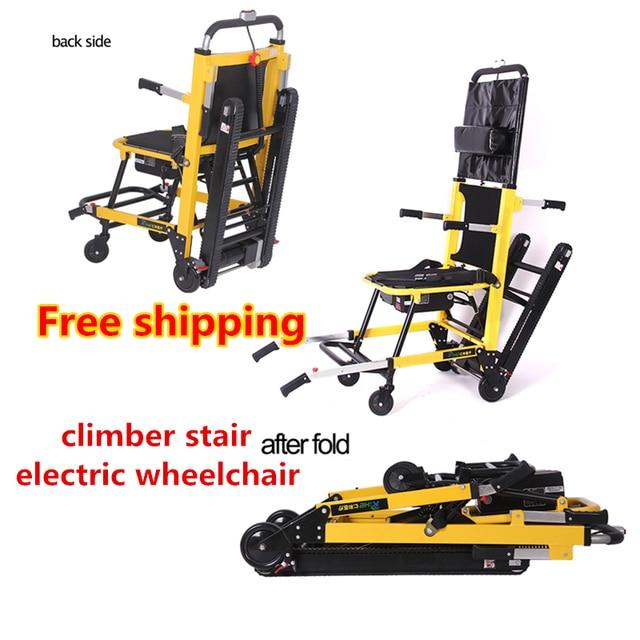 Легко подняться лестницы инвалидной коляске большой ёмкость альпинист лестницы электрическая складывающаяся инвалидная коляска для distabled, пожилых людей