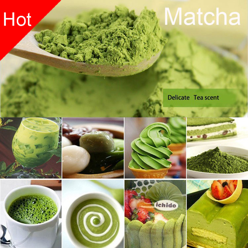 Promotion 100g japanese matcha green tea powder 100 natural organic slimming tea reduce weight loss food