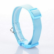 Adjustable Nylon dog collar 6 Color All Seasons Solid Basic Collars Pet Dog Product for You Baby