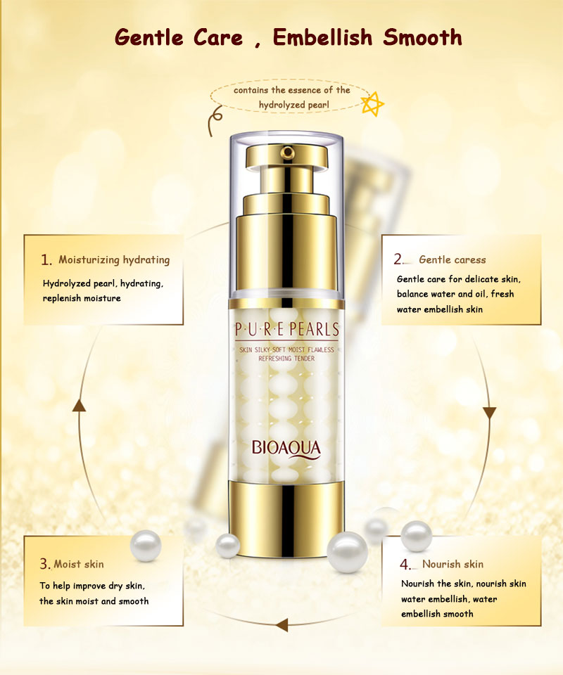 BIOAQUA Brand Pure Pearl Collagen Hyaluronic Acid Face Skin Care Moisturizing Hydrating Anti Wrinkle Anti Aging Essence Cream 12