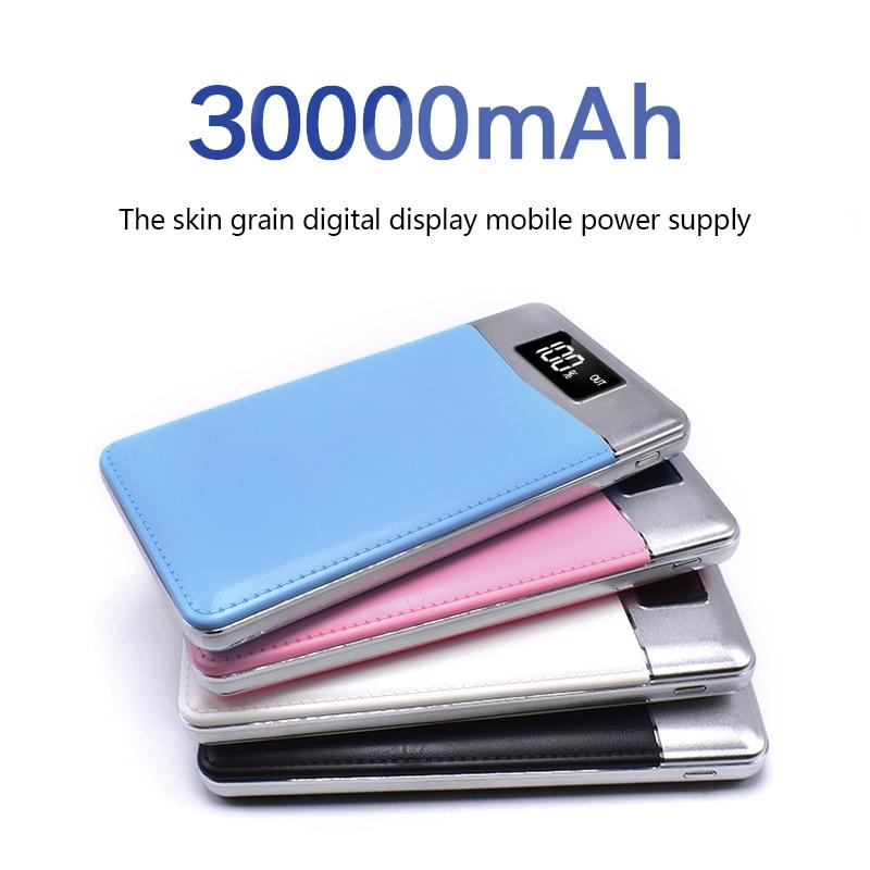 Quick Charge Power Bank 30000mAh 2 USB LCD Portabl...