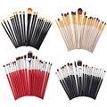 20 Pcs Maquiagem Escovas Jogo Da Sombra Fundação Blush Sobrancelha Delineador Lip Escova Cosmética Ferramentas de Beleza Kit SSwell