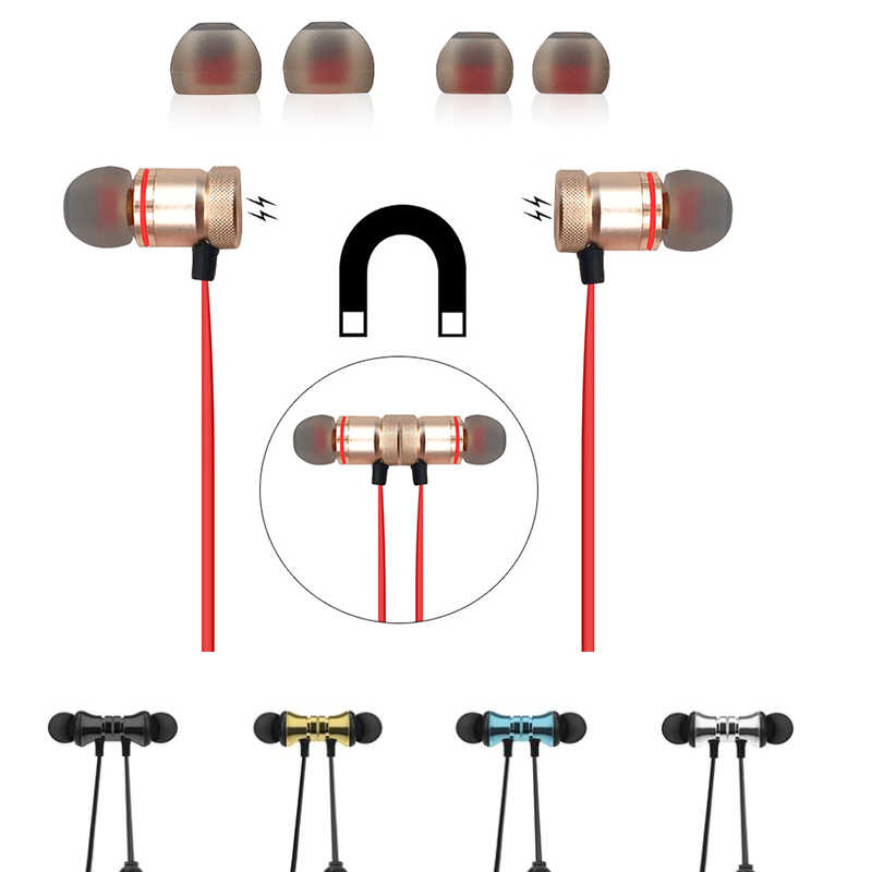 سماعة بلوتوث لاسلكية سماعة أذن تستخدم عند ممارسة الرياضة ستيريو سماعات الأذن مع الميكروفون سماعة رأس لهاتف آيفون Xiaomi Ecouteur الأذنية
