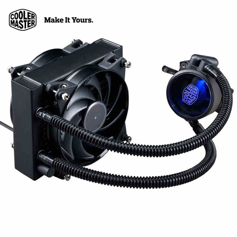 Cooler Master  120 CPU liquid cooler 120mm Quiet  fan Compatible Intel 2066 2011 1150 and AMD AM4 CPU water cooling fan cooler graphics card water cooling radiator cpu fan water liquid dynamic cooling system mute copper aluminum cooler base for intel amd