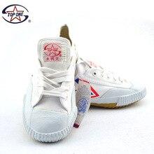 ילדי קונג פו FeiY נעלי לחימה טאי טאקוונדו Wushu קראטה הנעלה ספורט אימון נעלי ספורט שחור ולבן