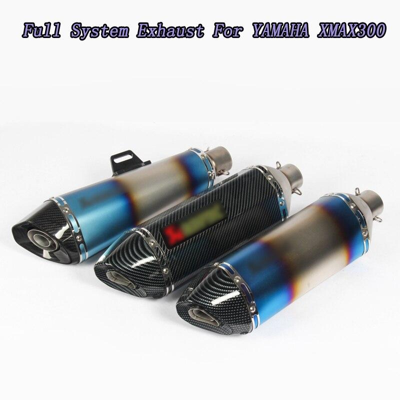 Xmax 300 Laser marquage tuyau d'échappement d'échappement d'échappement en Fiber de carbone silencieux tuyau d'échappement pour Yamaha XMAX 300 250 CC
