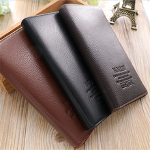 Men Wallets 2016 New Design Purse Casual Wallet Clutch Bag Brand Leather Long Wallet Hand Bags For Men Purse D1052-2