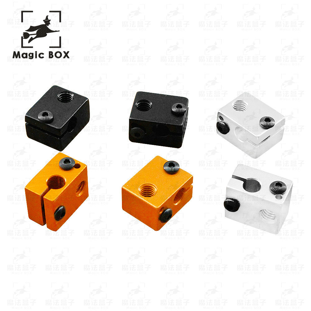 Aluminium V6 Heat Block For V5 V6 J-head Extruder HotEnd 3D Printers Parts Heater Hot End Heating Accessories 20*16*12 mm Part