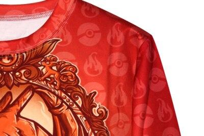 Dragon Pokemon Printed Sweatshirt Fitness Pullover