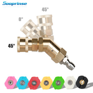 Image 1 - Car Washer Nozzle Tips Multiple Degrees,1/4 inch Quick Connector 5 Packs 3.0 GPM Pivoting Coupler and 7 Spray Nozzle Tips