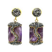 Handmade Natural Stone Earrings For Women Charms Statement Drop Fashion Jewelry 2019 Wedding