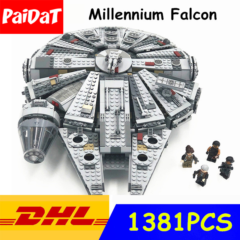 Paidat 05007 Star Wars Model Building Blocks Millennium Falcon Figure Compatible Legoingly Star Wars Gift Toys For Children фотообои star wars star wars millennium falcon 3 68х2 54 м