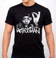Mejor Camisetas Tees de máquina de impresión de la manga Masajeadores de cuello methodman rap hip hop artist t-shirt negro Nuevo T Camisas