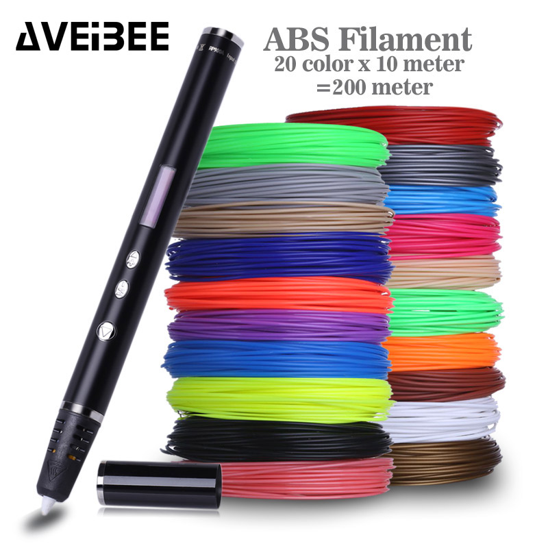 AVEIBEE 3D Pen Original DIY 3D Printing Pen With 100/200M ABS/PLA Filament Creative Toy Gift For Kids Design Drawing