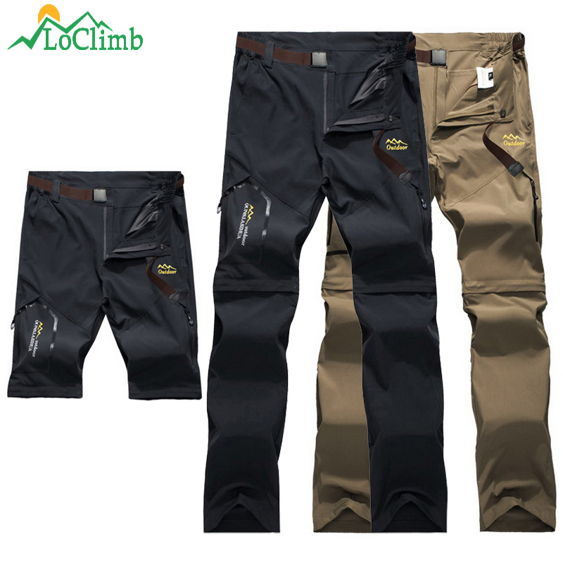 LoClimb Outdoor Hiking Pants Lelaki / Wanita Stretch Quick Dry Waterproof Trousers Man Mountain Climbing / Fishing / Trekking Pants AM051