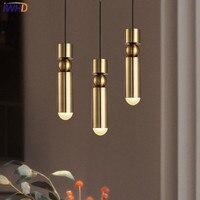 IWHD Simple Fer Lampes Suspendues Moderne Creative Mini or HangLamp Cuisine Salon café Accueil Éclairage Lamparas
