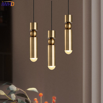 IWHD Simple Iron Pendant Lights Modern Creative Mini gold HangLamp Kitchen Living Room cafe Home Lighting Fixtures Lamparas modern home lighting pendant lights kitchen living room luminaire hanglamp 110 240v loft