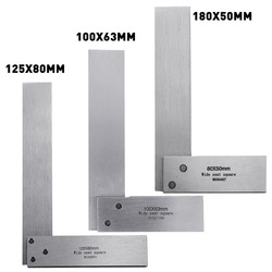 New Machinist Square Ruler 90 Degree Right Angle Rulers Engineer Precision Ground Steel Hardened Angle Rulers