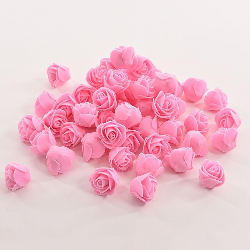 50 шт./пакет ПЭ пена Роза ручной работы DIY Свадебные украшения дома многоцелевой искусственный цветок голова 10 цветов