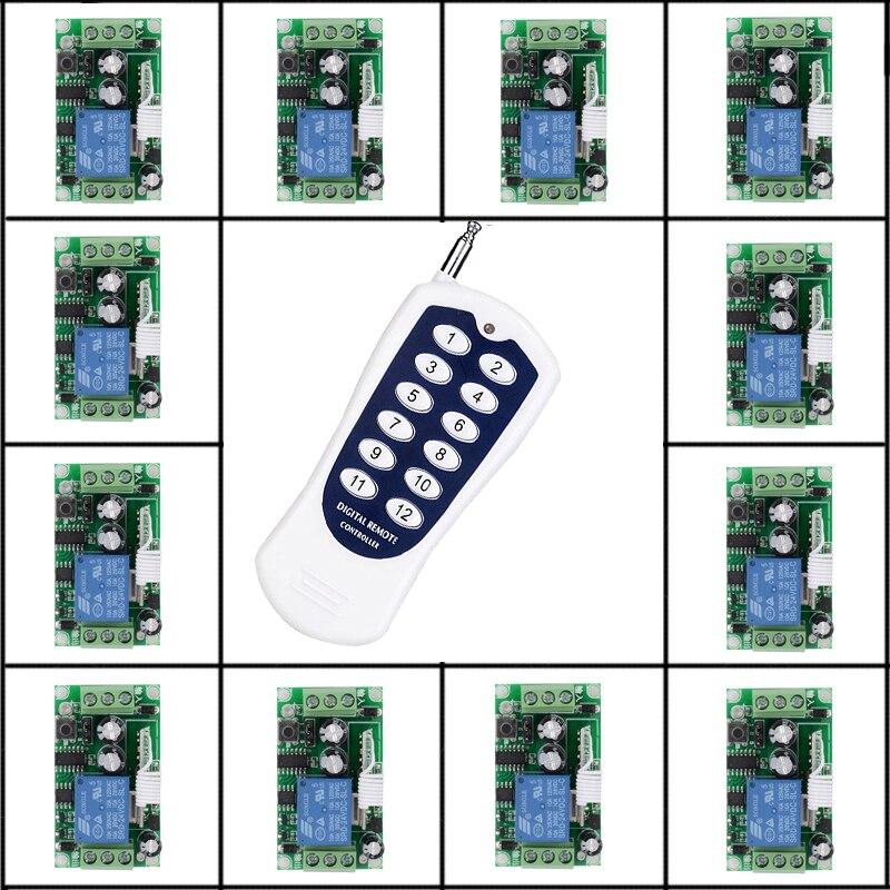 C 24 V 16 CH relais commutateur à distance 10A relais Contact sans fil commutateur NO COM NC disjoncteur à distance sans fil ON OFF rx tx 315433