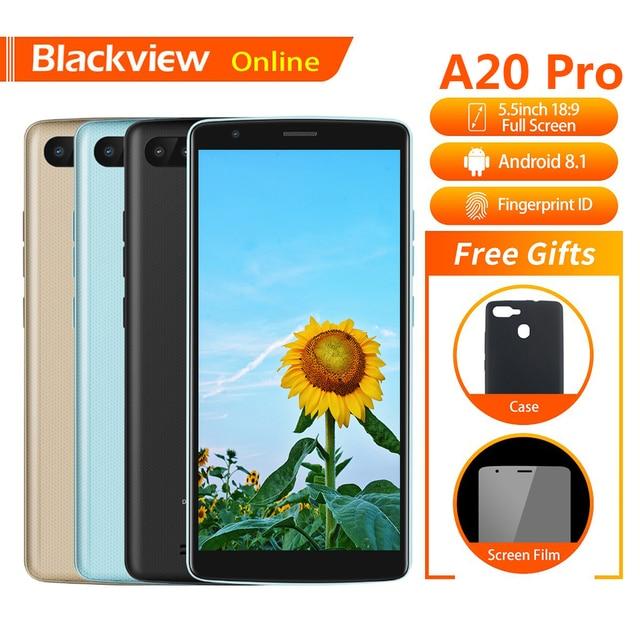 "Blackview A20 Pro Original 5.5""Mobile Phone 2GB+16GB Quad-Core Android 8.1 Fingerprint 18:9 Full HD Screen 4G Fashion Smartphone"